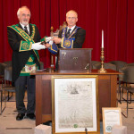 RWPGM Kenneth Johnson with RWM Tim Keen of Lodge St Molios No 774