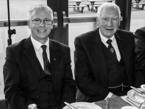 RWM of Lodge St Molios, Tim Keen and IPM Andy Martin.