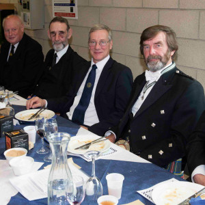 RWM of Lodge Pollok No 772, Creighton Halliday. Lodge 772 was consecrated on the same day as Lodge 774 and had their celebration a couple of weeks before Lodge 774's. Creighton cave the reply to Andy Martin's toast to the visitors.