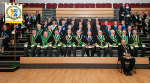 The brethren of Lodge St Molios No 774 with the Provincial Grand Lodge of Argyll & the Isles