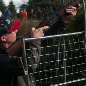 It was the annual Provincial clay pigeon shoot near Tarbert today. Here's Tim with his first attempt...