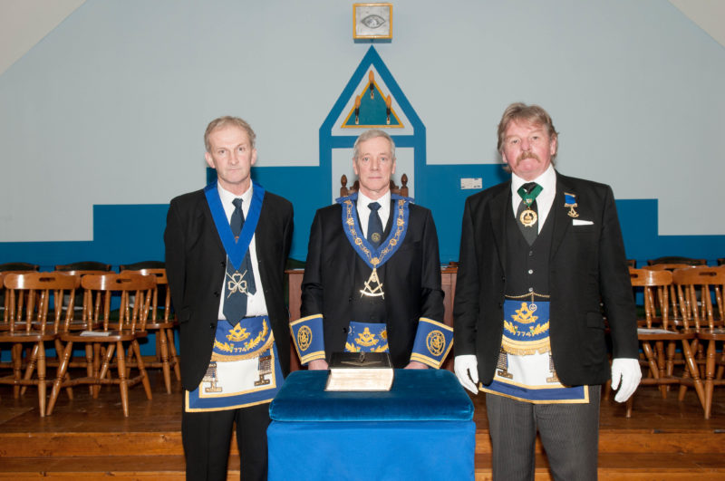 RWM Chris Stirland with Installing Masters performing Installation Ceremony